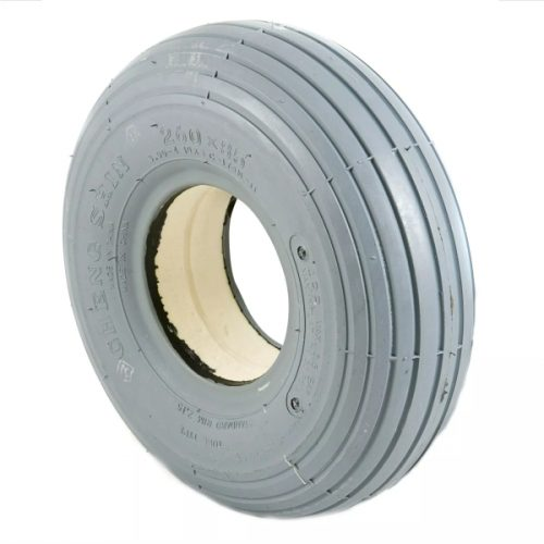 300 x 4 grey ribbed tyre solid
