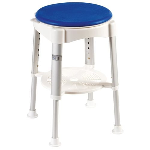 Bath Stool With Rotating Padded Seat, Padded Bath Stool, Rotating Bath Stool, Bath Stool, Drive, Drive Medical. Drive Devilbiss