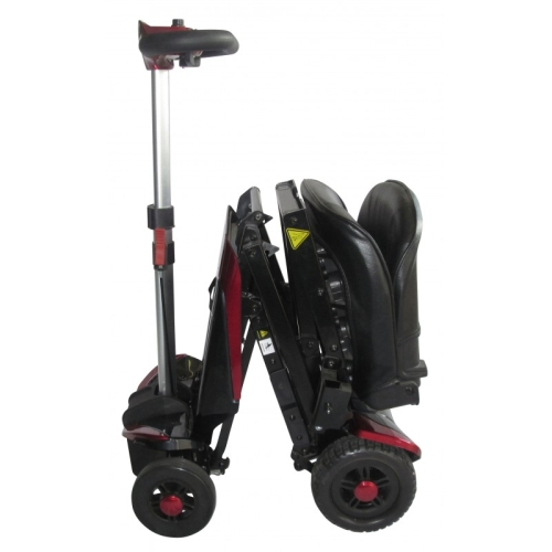Smartie, Self Folding Electric Mobility Scooter, Red, Blue, With a Lithium Battery, 10 Mile Range, 21 Stone User Weight