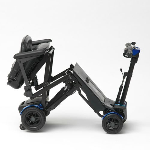 Drive Devilbiss, 4 Wheel Auto Folding Mobility Scooter, Red, Blue, Lightweight Folding Travel Scooter