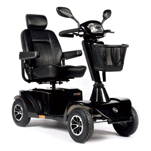 s700 sunrise medical mobility scooter in metallic black