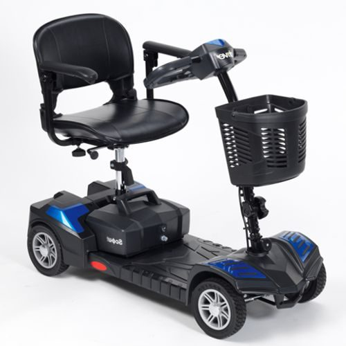 Drive Scout Mobility Scooter, 4 Wheel, Lightweight, Portable, Electric Blue