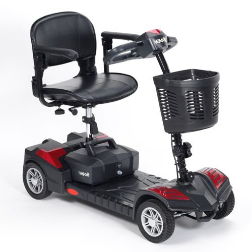 Drive Devilbiss, Scout, Electric Mobility Scooter, Portable, Comes into pieces, Lightweight, Spirit Red