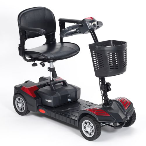 Drive Scout Mobility Scooter, 4 Wheel, Lightweight, Portable, Spirit Red, Electric Blue