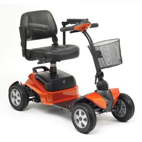 Electric Mobility Scooter, Portable Boot Scooter, Zen Orange