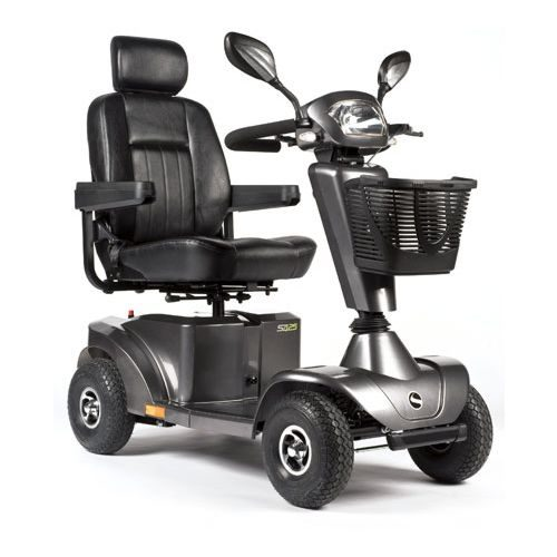 Sunrise Sterling S425 Mobility Scooter Silver, Silver, Sunrise, Sterling, S425 Mobility Scooter, Mobility Scooter, 8MPH, 8 mph, Mobility, Full Suspension, Lights and Indicators, Road Legal Scooter, Electric Mobility Scooter, S425