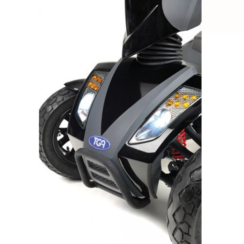 TGA Vita Sport Mobility Scooter front view, lights and suspension
