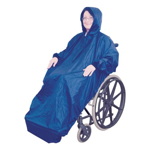 Aidapt, Fleece Lined, Wheelchair Mac with sleeves, Waterproof
