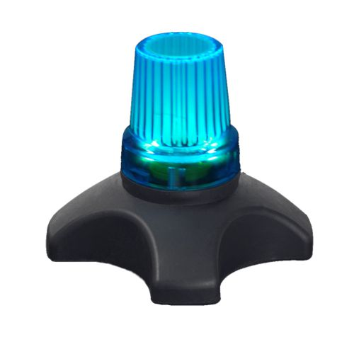 Drive Devilbiss, Flashing Quad Cane Tips, Ferrules, Glow in the dark, Blue