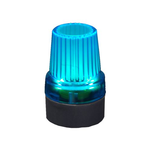 Drive. Blue Flashing Cane Tip, Glow in the dark, Walking Stick Ferrule