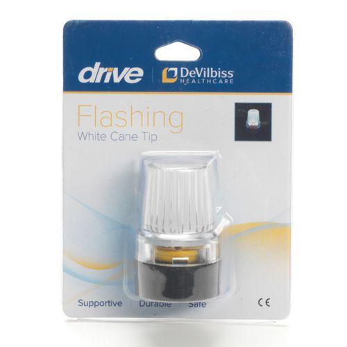 Drive. Cane Tip, Walking Stick Bottom, Flashing Ferrule, White