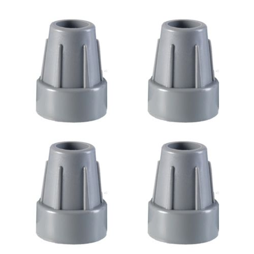 4x, Rubber Ferrules, Non Slip, Cane Tip, Grey Walking Stick Bottom, 19mm, 22mm, 25mm
