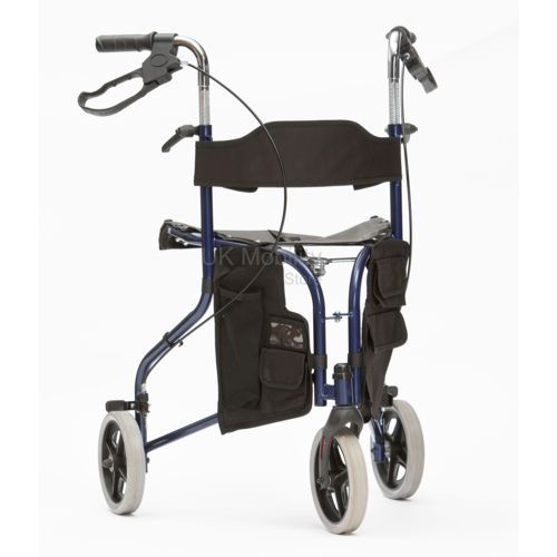Blue Tri Walker with a seat, 3 Wheels