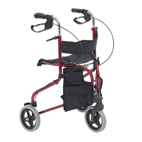 Red Tri Walker with a seat, 3 Wheels