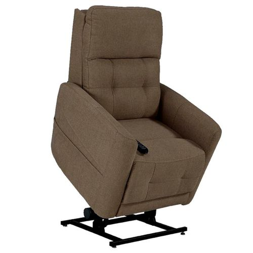 a westminster rise and recliner chair in latte colour raised