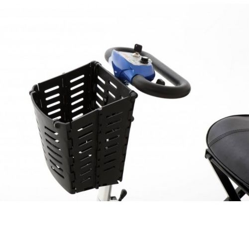 Bracket and Basket for a folding mobility scooter