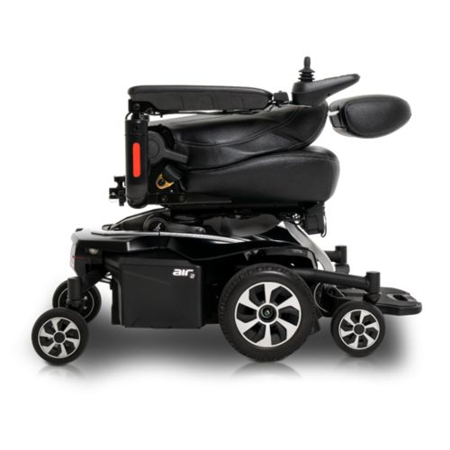the jazzy air 2 powerchair folded down flat
