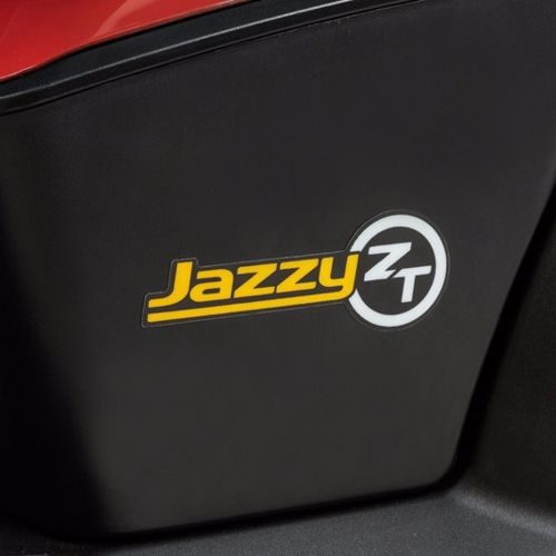 the battery box and logo for the jazzy zero turn