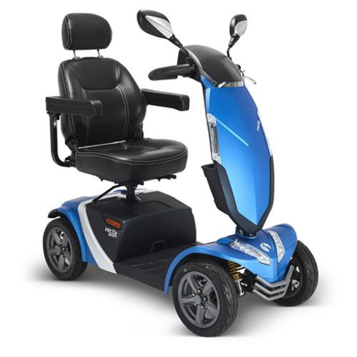 A Rascal Vecta Sport Mobility Scooter in the colour of blue